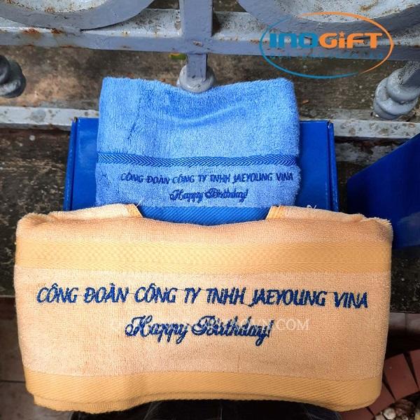 Set quà tặng khăn tắm, khăn mặt mừng sinh nhật